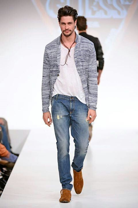 aa0a9903ff6def Slubby Knit Baseball Style Cardigan, by Guess, Men's Spring Summer Fashion.