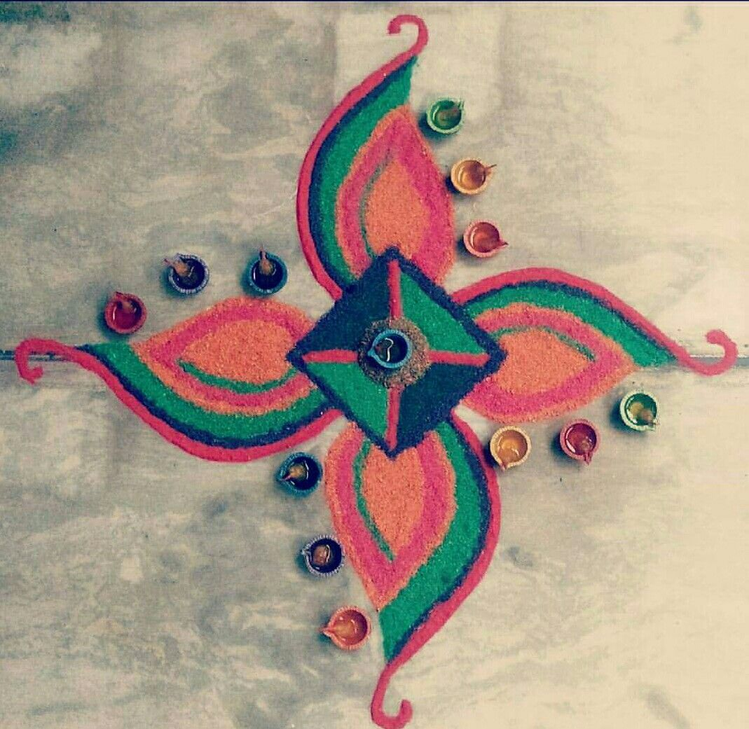 Pin by Ashwini Krishna on Kolam Rangoli designs, Easy