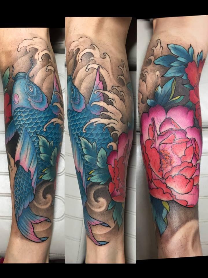 Chronic Ink Tattoo Toronto Tattoo Koi And Lotus Half Sleeve Tattoo By Janice Sleeve Tattoos Half Sleeve Tattoo Tattoos