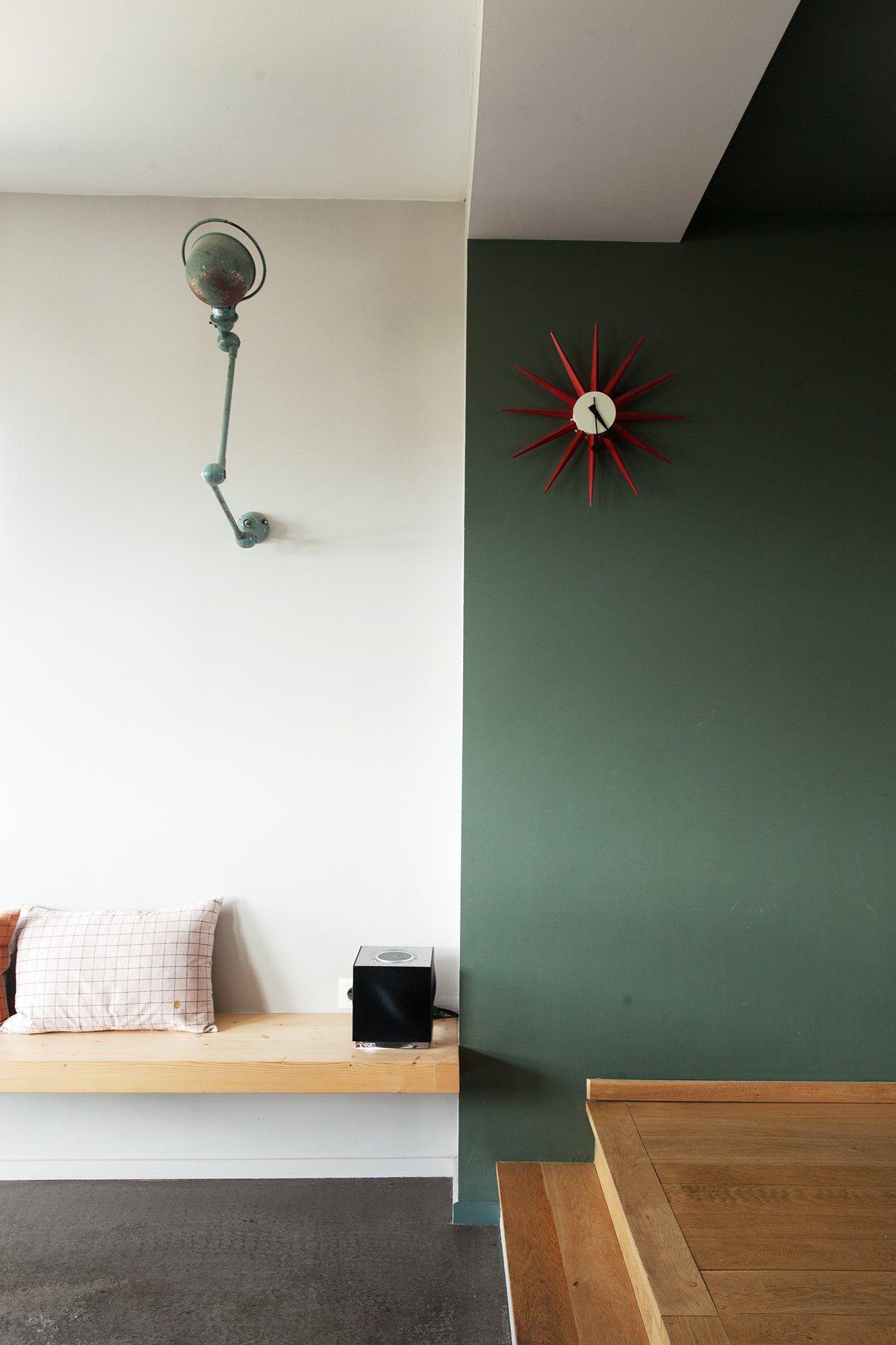 Anne Hubert Et Jeff Louise 19 Ans Violette 7 Ans En 2020 Decoration Maison Deco Peinture Salon Et Chambre Parentale Verte