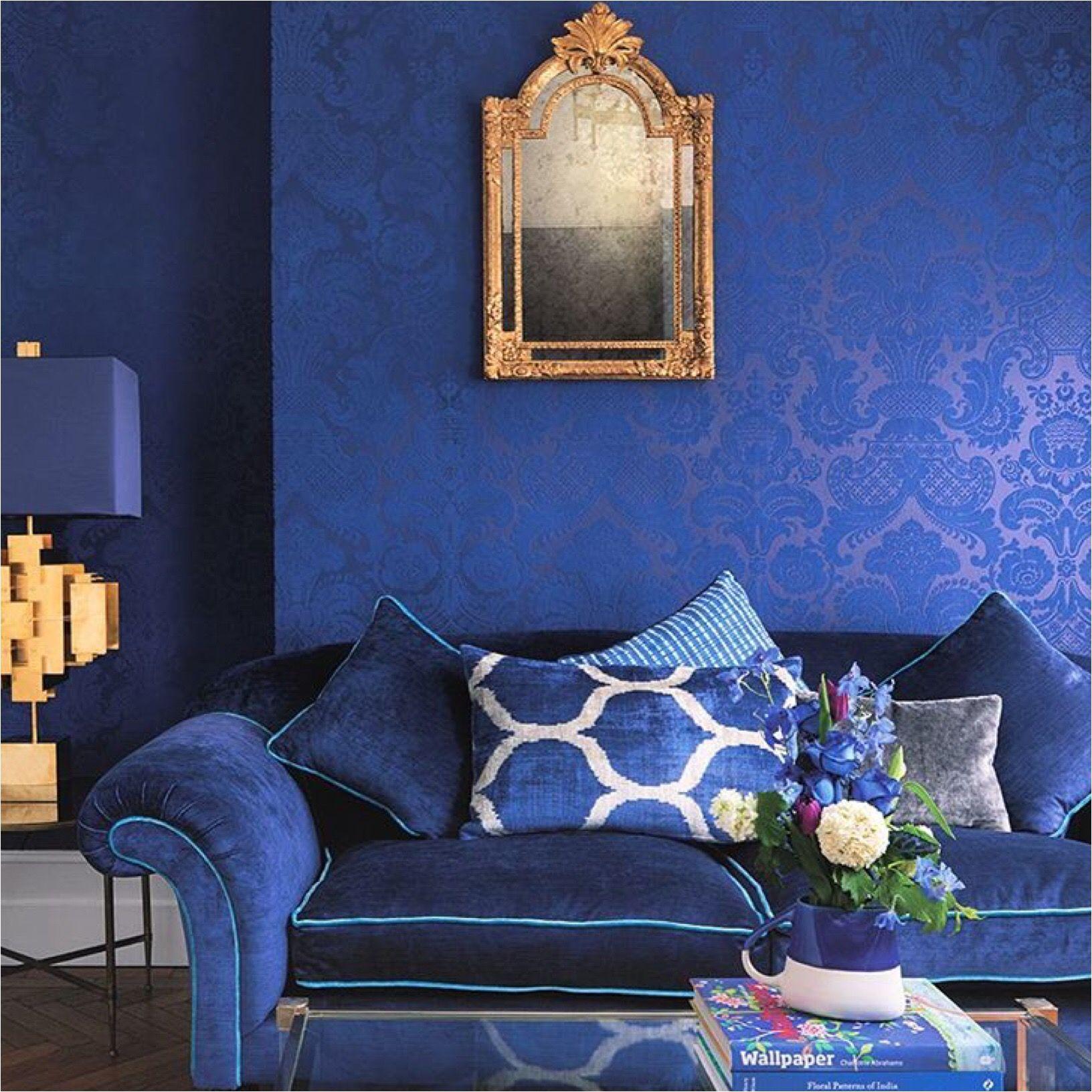 Pin On Blue Walls Room Ideas Blue wallpaper room inspiration