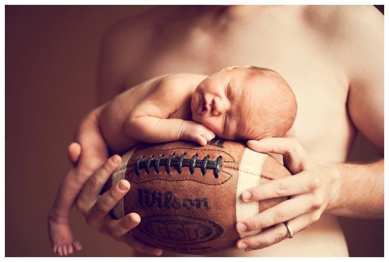 Football baby sonya ruth photography