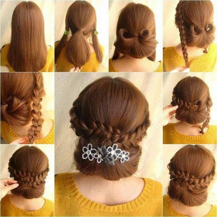 How To DIY Elegant Braids And Chignon Hairstyle Thumb