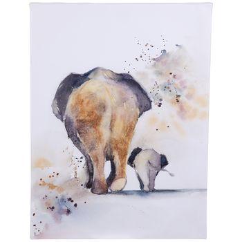 Parent & Child Elephants Canvas Wall Decor