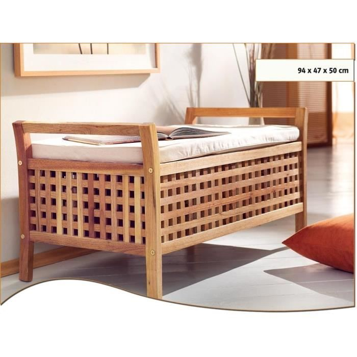 Banc rangement salle bain for Banc de salle de bain en bois