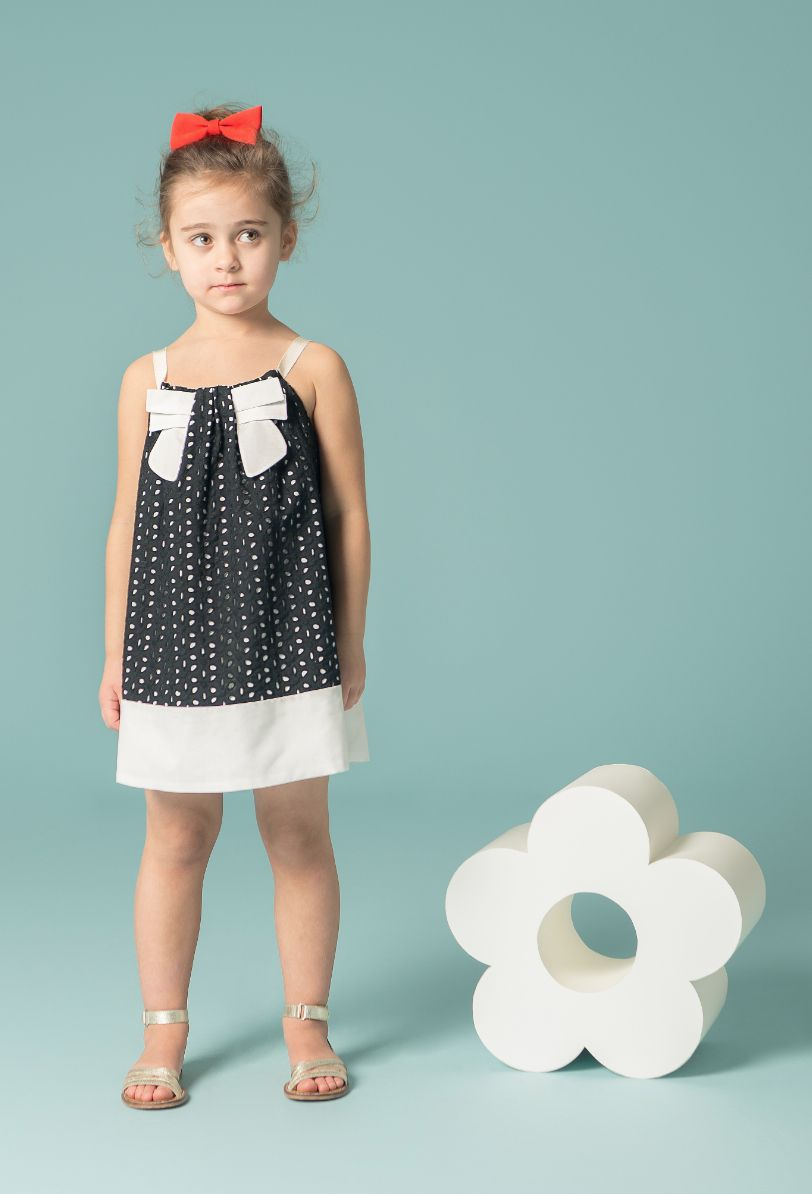 Black cut out lace dress for summer 2015 party girls at Hucklebones kidswear