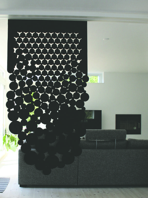 Growing Bubbles Black Sound Absorbing Room Divider In