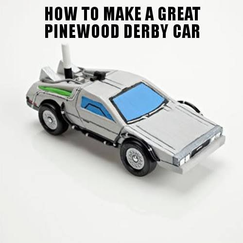 Pinewood derby car back to the future ii delorean for Boy scout derby car templates