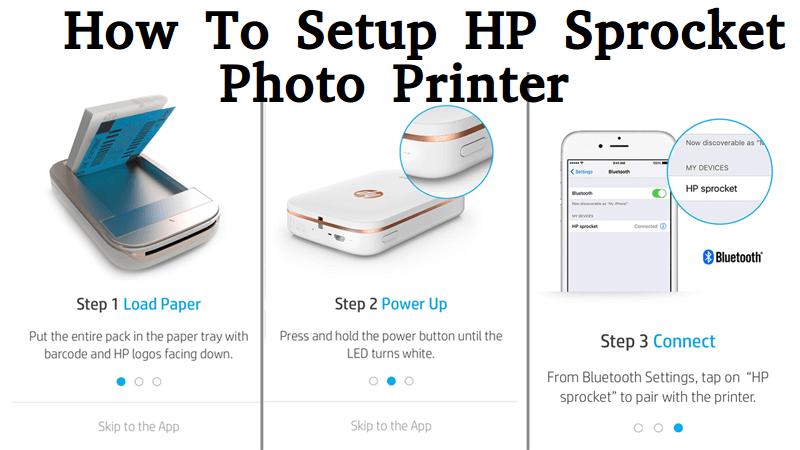 How To Setup Hp Sprocket Photo Printer Hp Sprocket Photo Printer