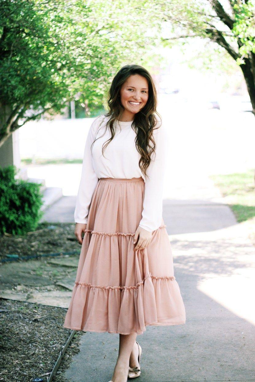 Spring Elegance | Modest teens fashion, Cute modest ...