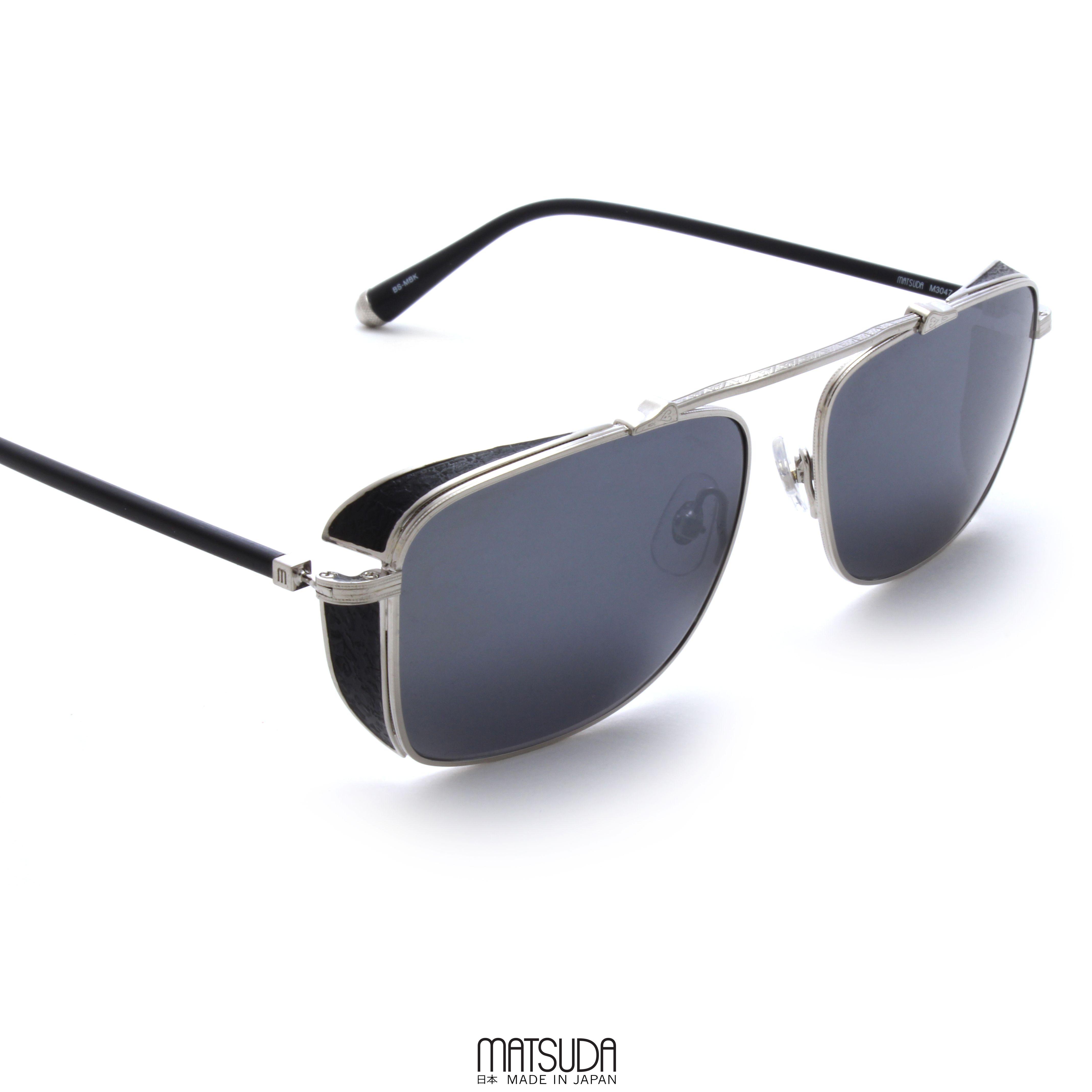 c85916f3569 The MATSUDA EYEWEAR    M3047 is a rare design in modern eyewear constructed  of aged