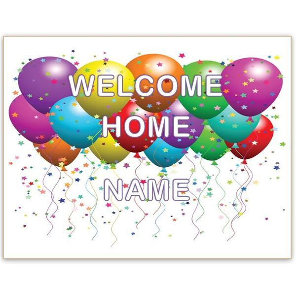 Geeky image pertaining to welcome home sign printable