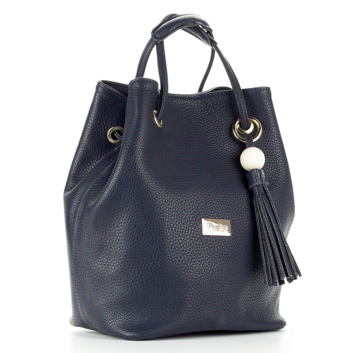 Prestige kék női táska osztatlan belső térrel 6004d056af