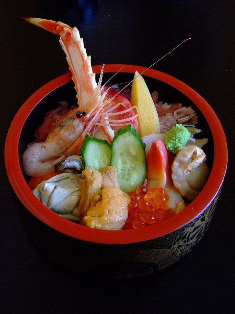 Seafood Rice Bowl Kaisen Donburi Food Japan Food Seafood Recipes
