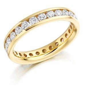 Platinum Brilliant Full Diamond Set Band Fet893 Eternity Ring Gold Wedding Band Eternity Ring Diamond