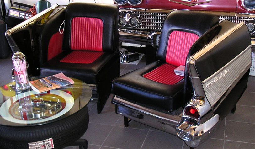 57 chevy belair furniture | 1957 Chevrolet Chairs | Auto-furniture ...