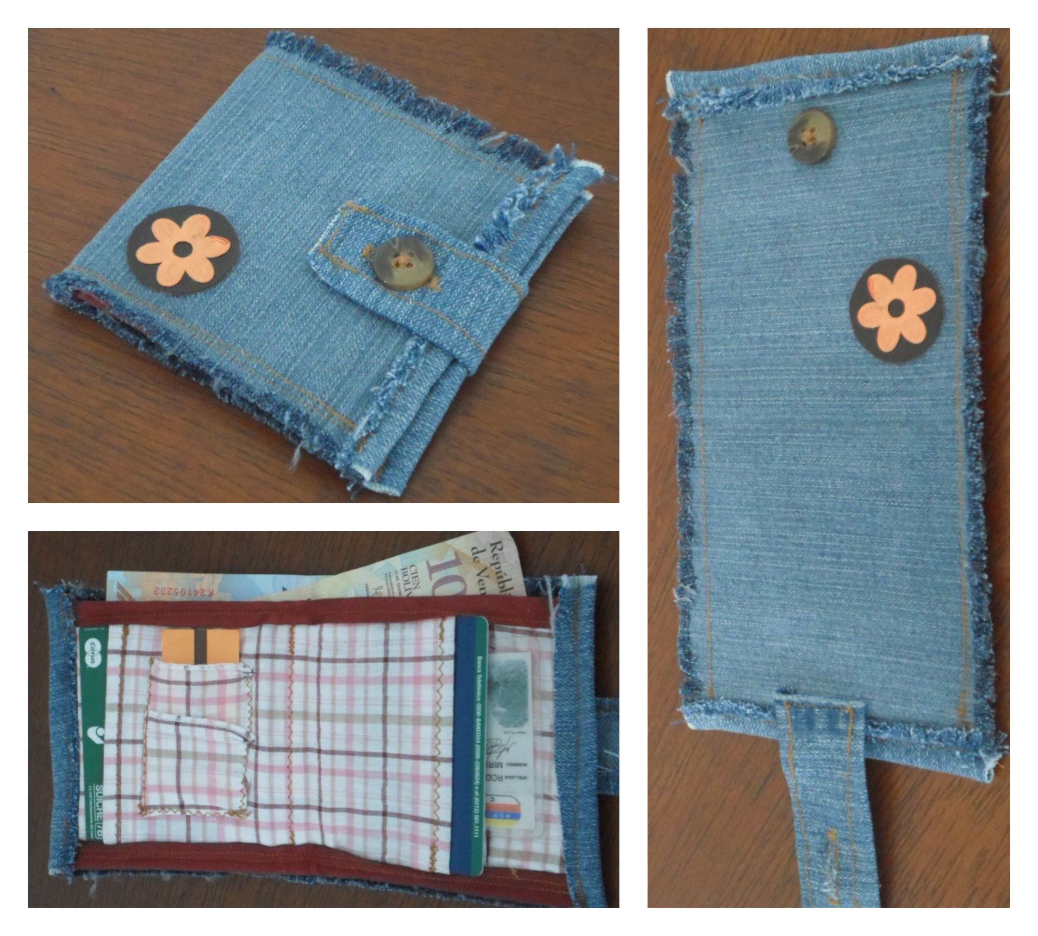 e2f15ef4e Billetera hecha en jeans | Carteras, Bolsos, Monederos, Billeteras ...