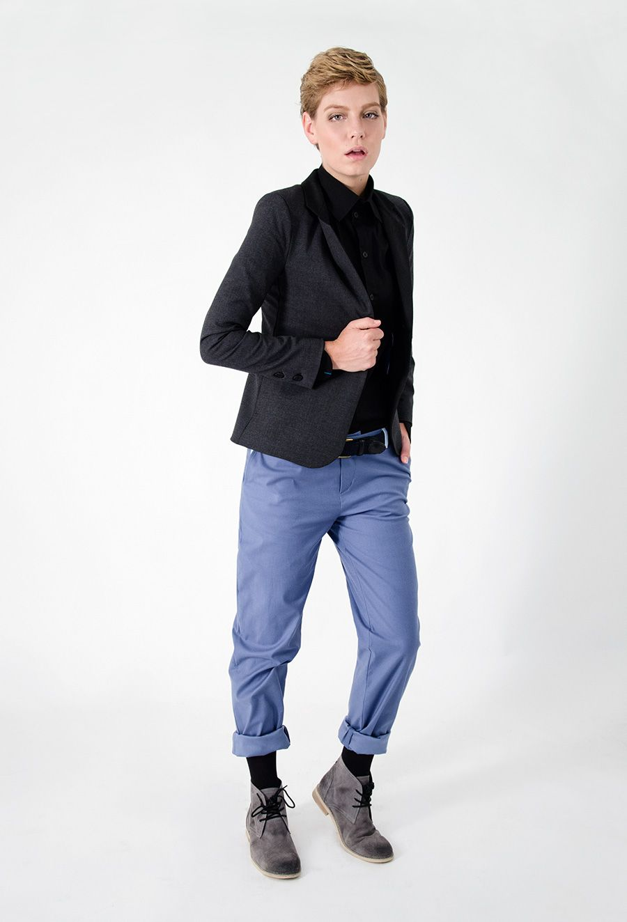 Black And Blue. Androgynous Fashion. | Androgynous Fashion | Pinterest | Androgynous Fashion ...