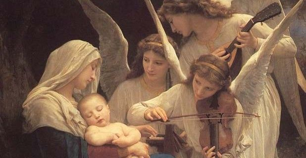 Image result for mary and angels music oil painting
