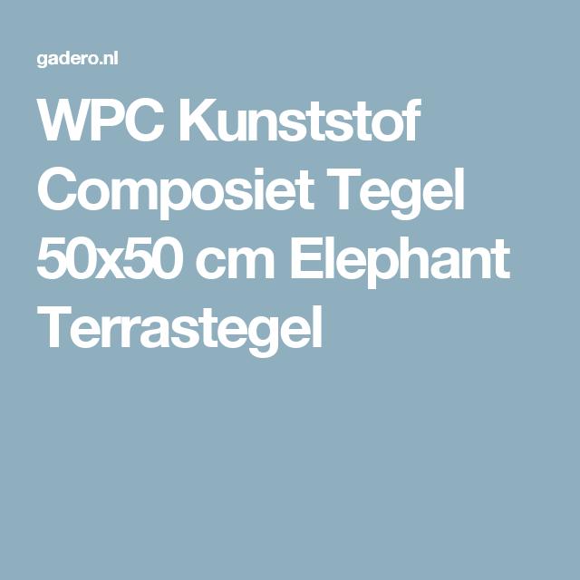 WPC Kunststof Composiet Tegel 90×90 cm Antraciet