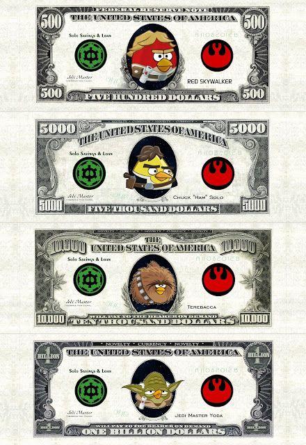 Printable Angry Birds play money день рождения Pinterest - play money template