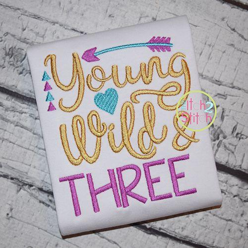 Young Wild and Three Third Birthday Shirt by NicoBellaBoutique - fresh birthday invitation baby girl