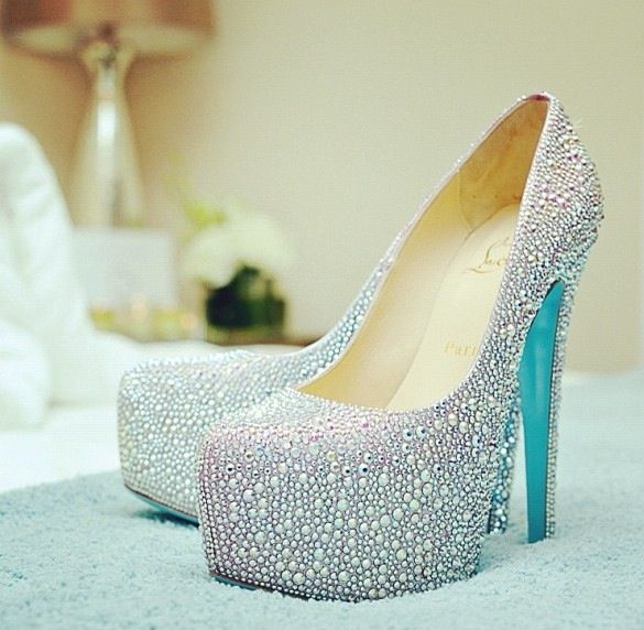 christian louboutin bridal blue sole