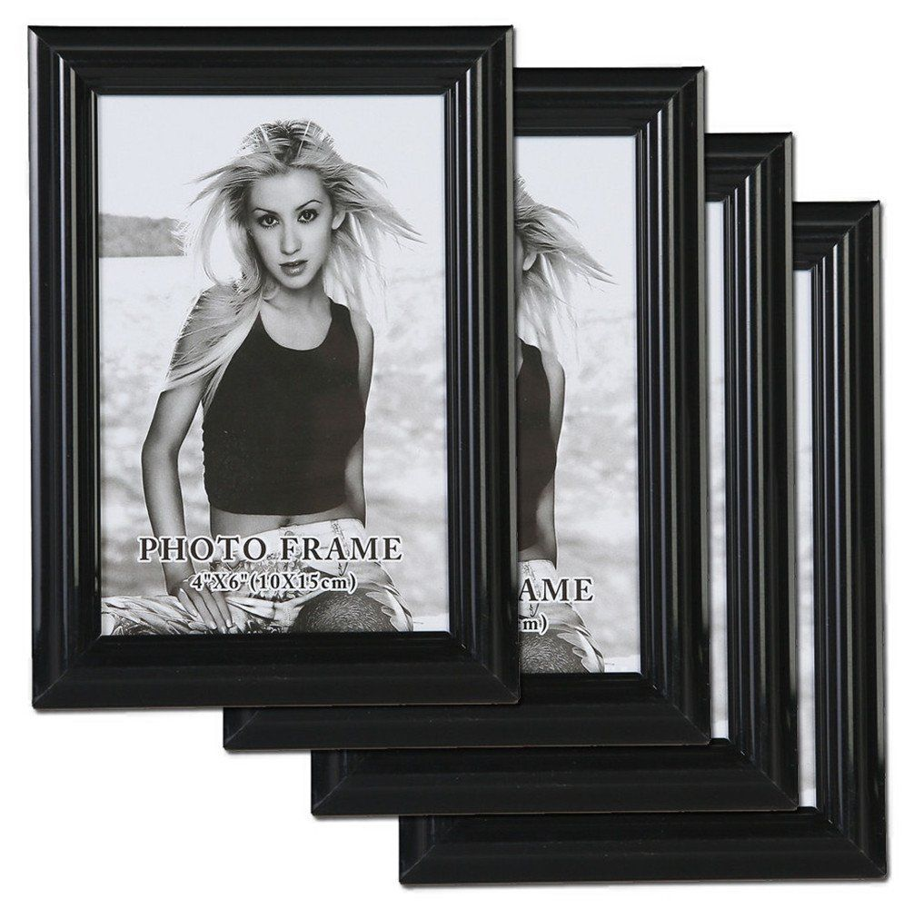 You Can See The Better Frame Giftgarden Collage Black Photo Picture Frame 6x4 Inch 4 Piece Packa Multi Photos Frame Photo Wall Display Picture Frame Wall