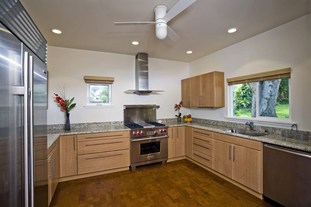 Energy Star appliances and cork flooring was used in this