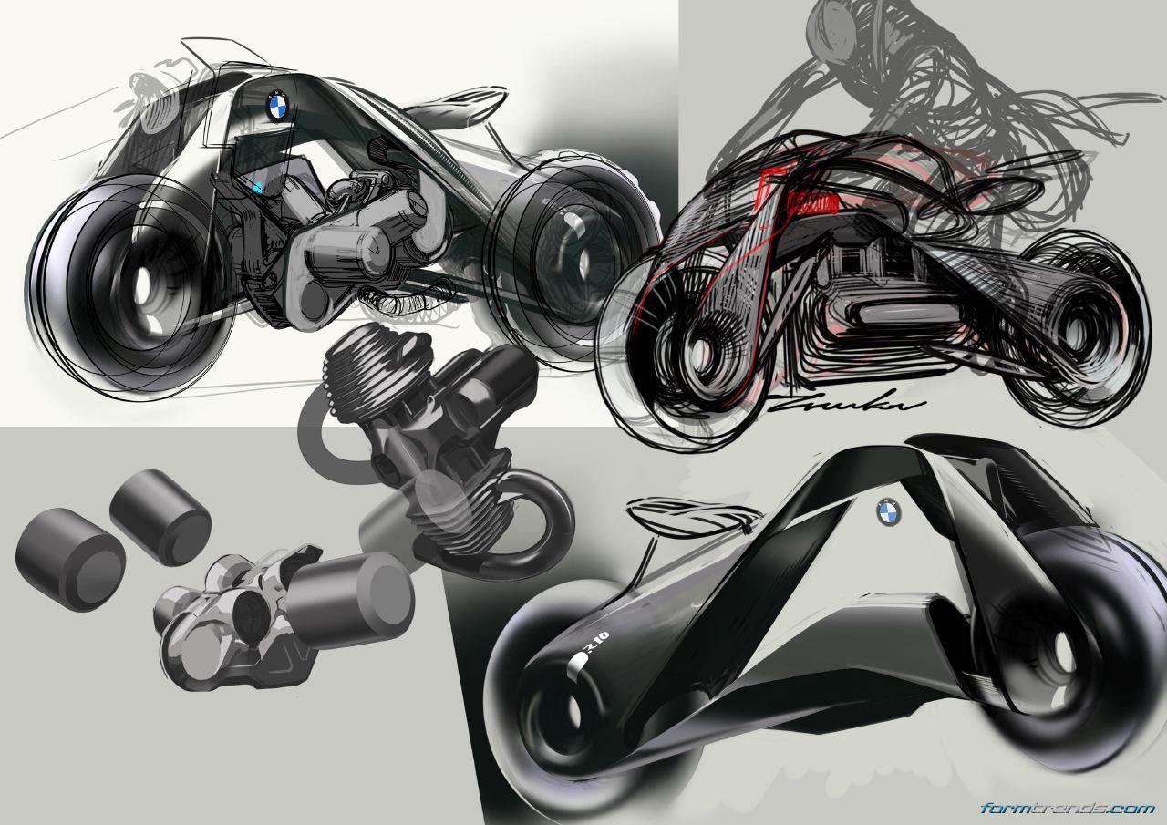 bmw motorrad vision next 100 sketchesevgeniy zhukov