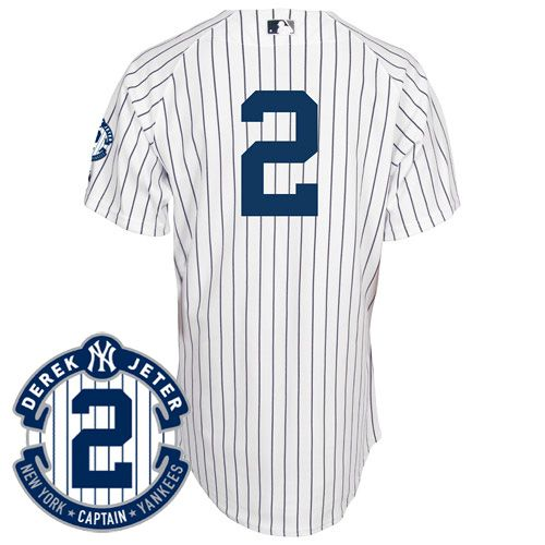 Yankees gear · New York Yankees Authentic Derek Jeter Home Jersey  w/Commemorative Retirement Patch - MLB.
