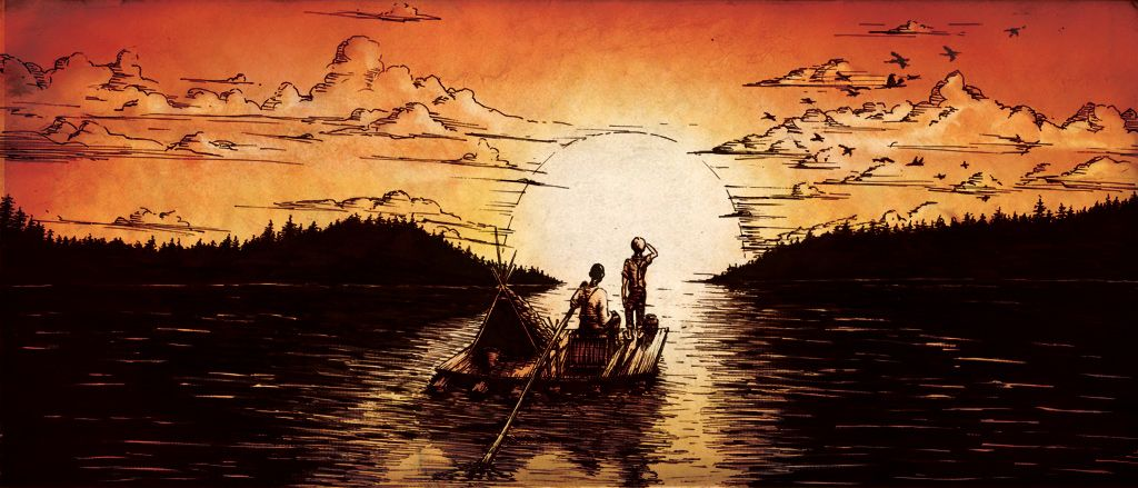 role of mississippi river in huckleberry finn