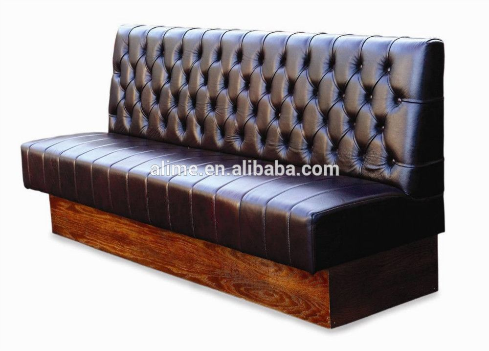 Alime Leather American Fast Food Booth Seating Restaurant