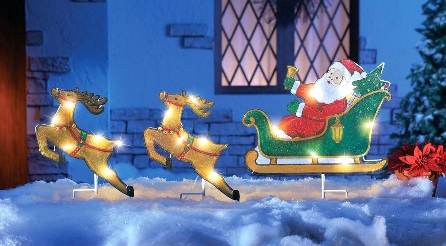 21 Simple Ideas of Santa Sleigh Design for Outdoor ...