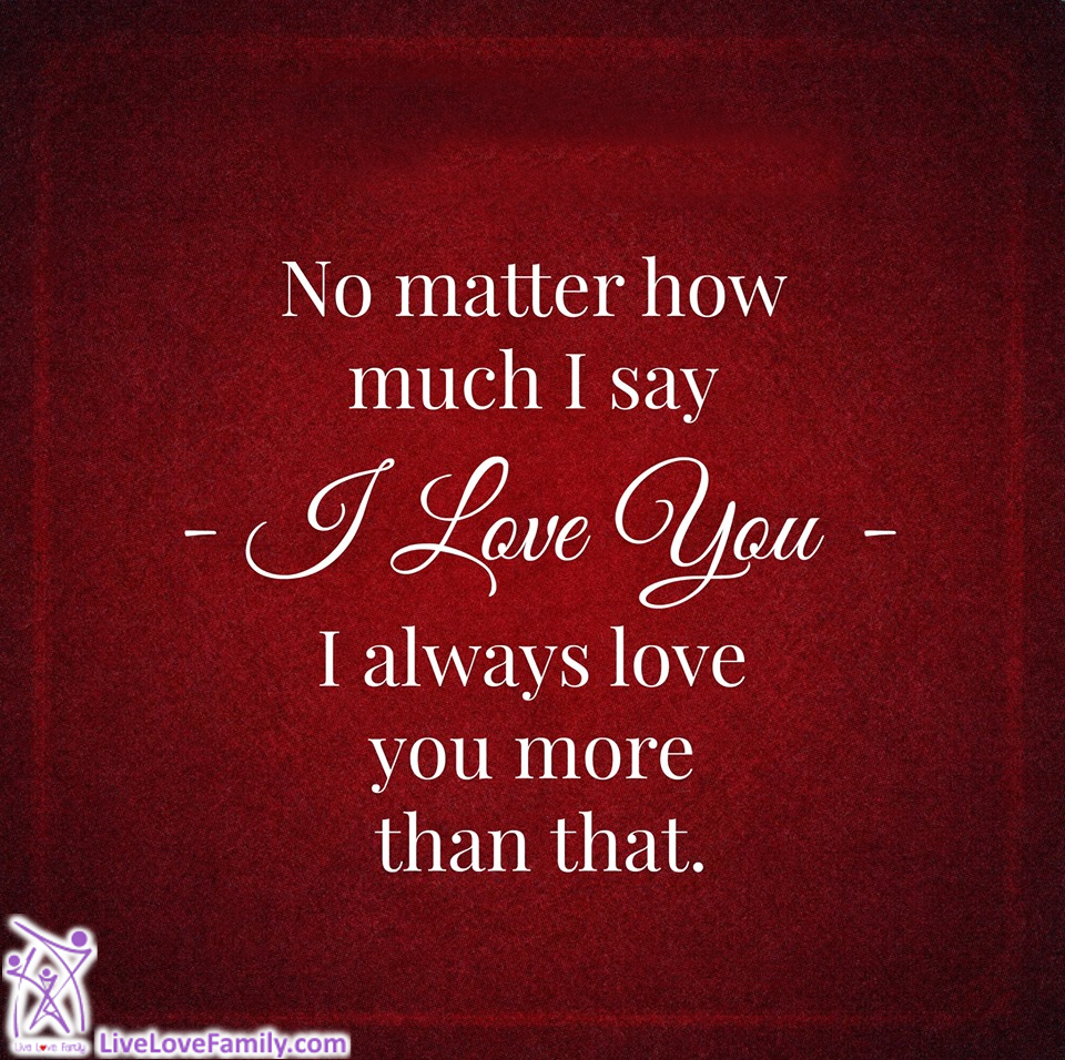 I Love You More Than Life Quotes: No Matter How Much I Say