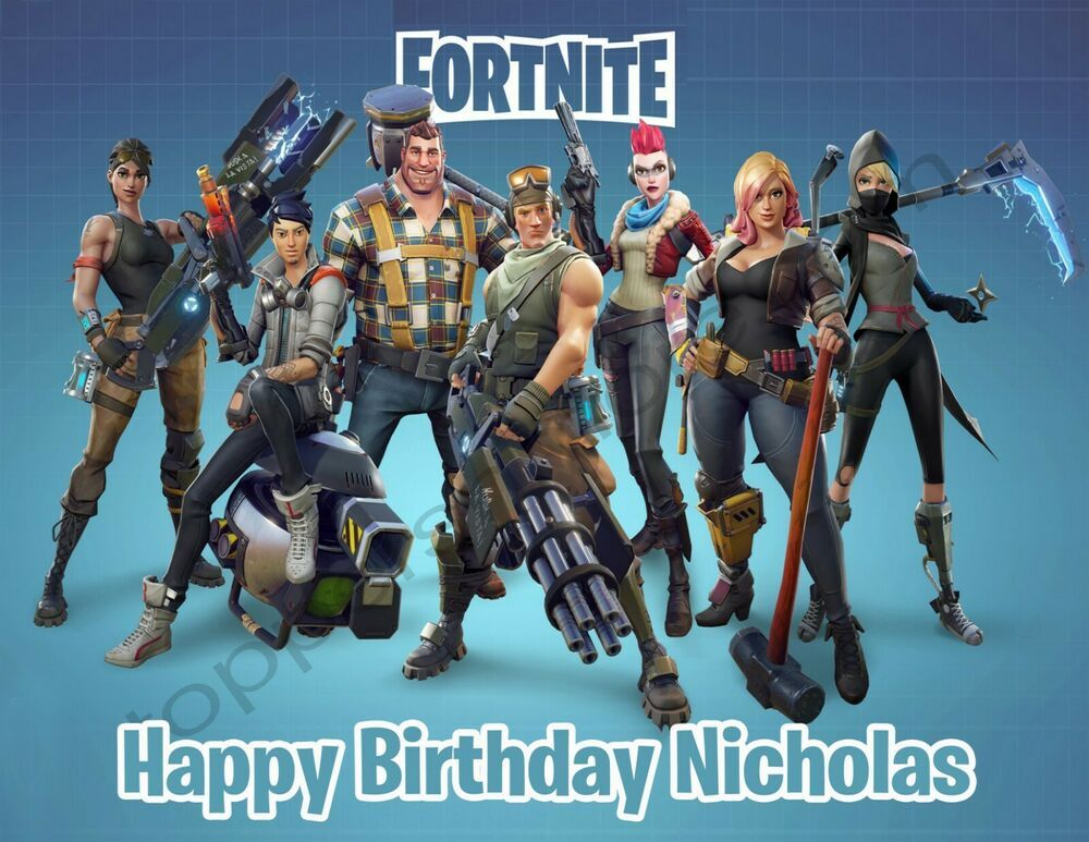 Fortnite Personalized Edible Print Premium Cake Topper Frosting Sheets 5 Sizes Battle Royale Game Gaming Wall Art Fortnite
