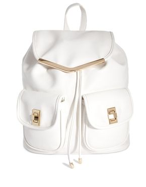 Image 1 of New Look Backpack in White Faux Leather | Summer ...