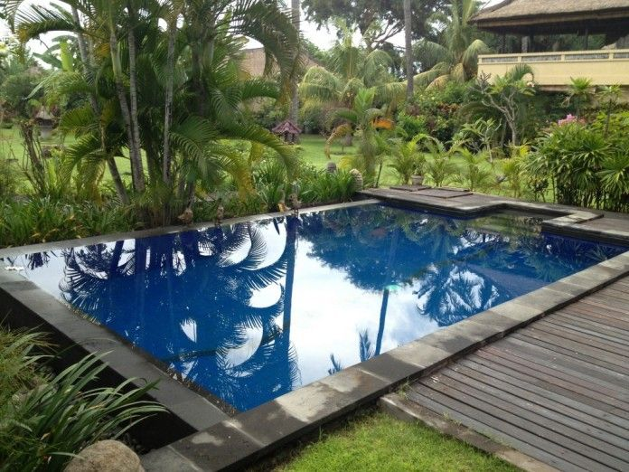 Dark Blue Pool Water nice private swimming pool design idea with regal blue pool water