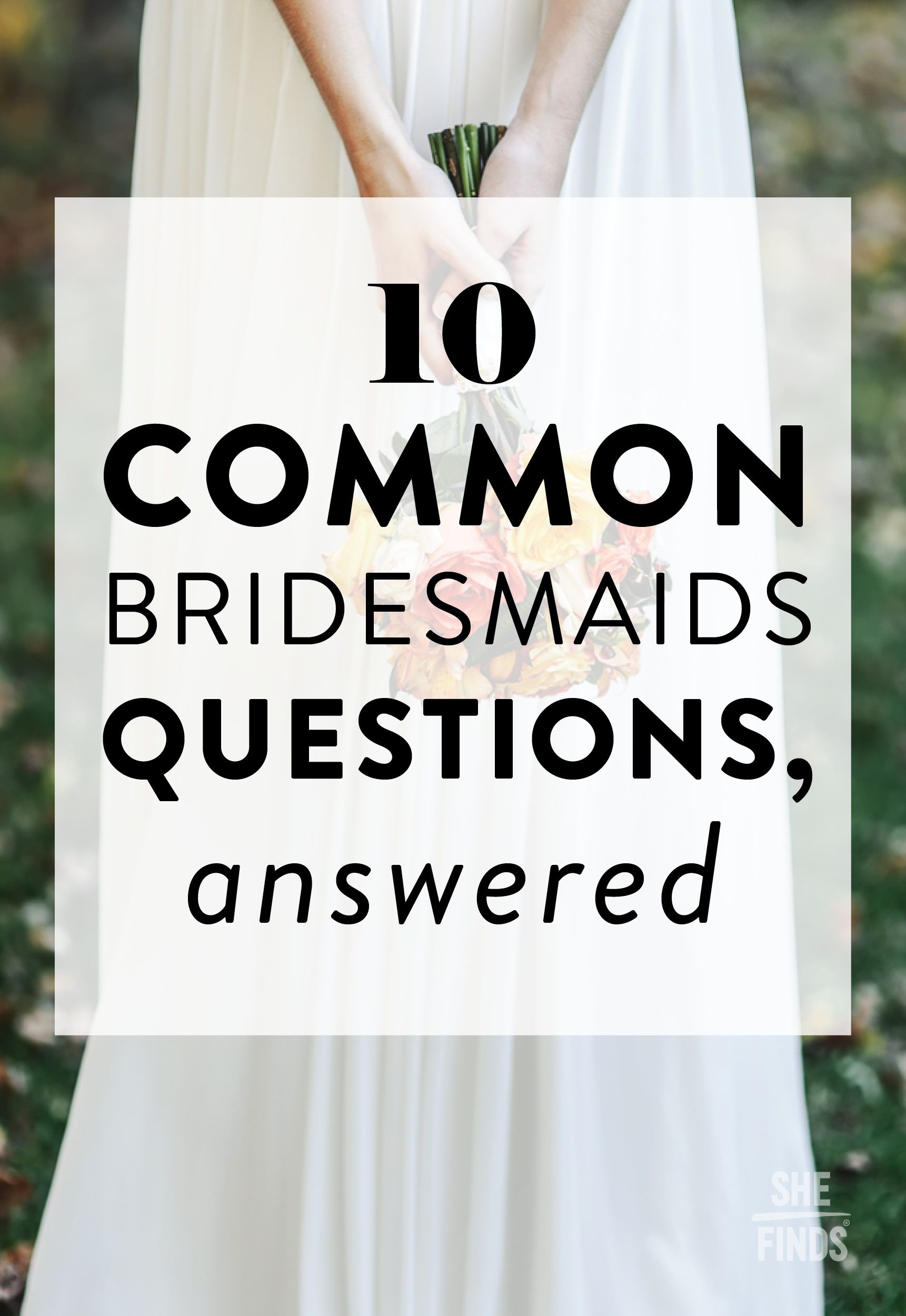 Bridesmaids Bridesmaid question, This or that questions