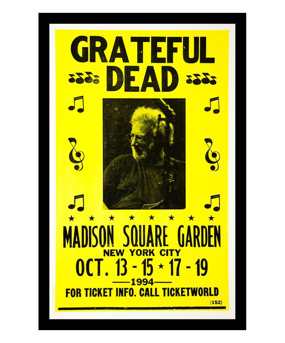 Grateful Dead Madison Square Garden Retro Concert Poster | Concert ...