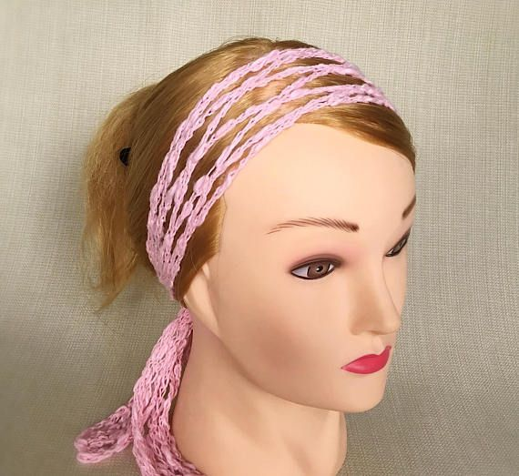 Boho Crochet Hair Scarf Wrap Hippie Headband Head Wrap Gypsy