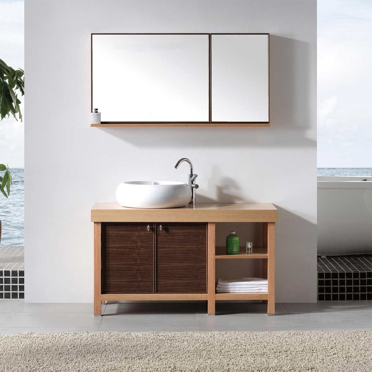 Interior Solid Wood Bathroom Cabinet 48 single bathroom vanity with vessel sink biella vm v14026 rok conceptbaths