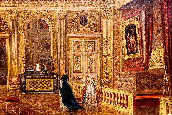 The Queen S Bedchamber In Versailles Palace Google Search