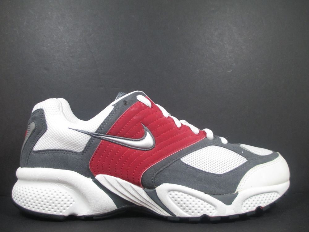 Nike Gray Red Suede Mens Lace Up Round Toe Sneakers Size 14