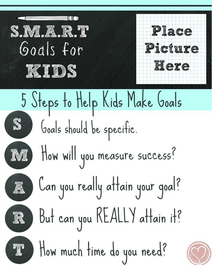 New Years Goal Setting for Kids the SMART Way | Goal, Counselling ...