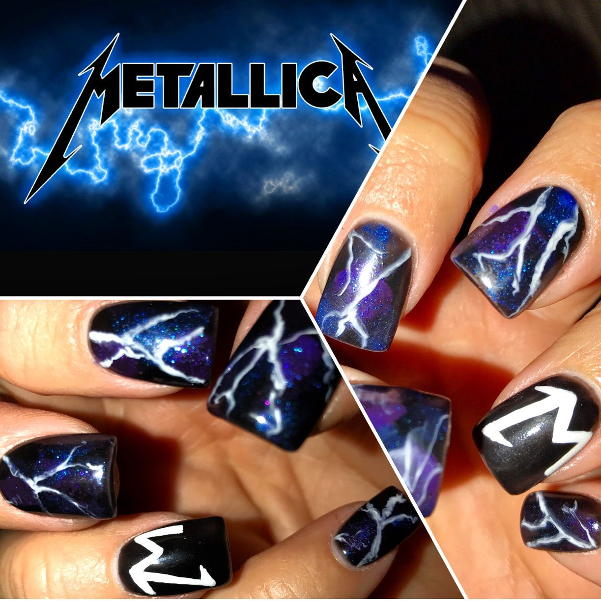 Metallica Nail Art Designs By Renee Nails
