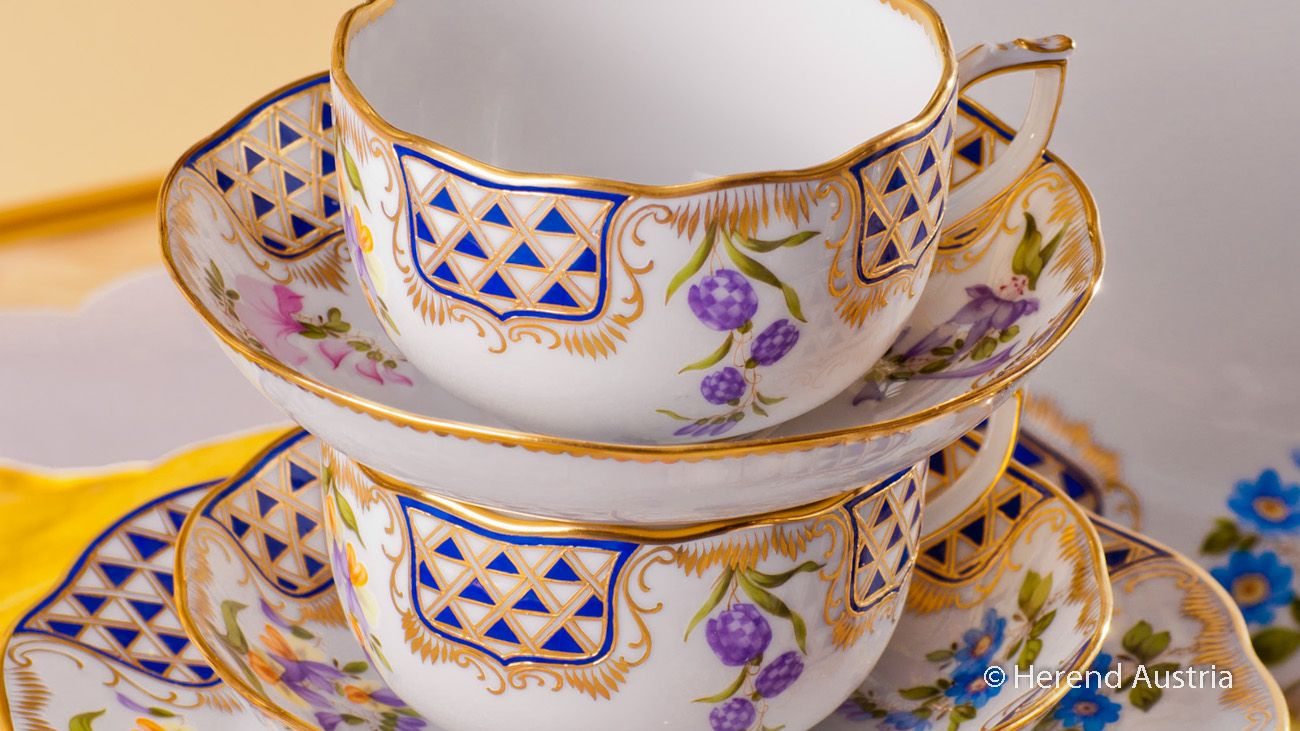Tea Cups - MTFC Decor Herend Porcelain