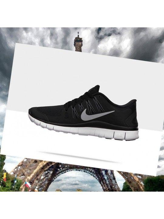 design intemporel 05010 2031b Nike Free 5.0+ Femmes Noir Argent Blanc Chaussures De Course ...