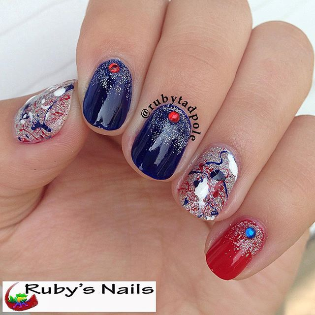rubytadpole | 4th of July Nail Art Gallery, check it out at http ...