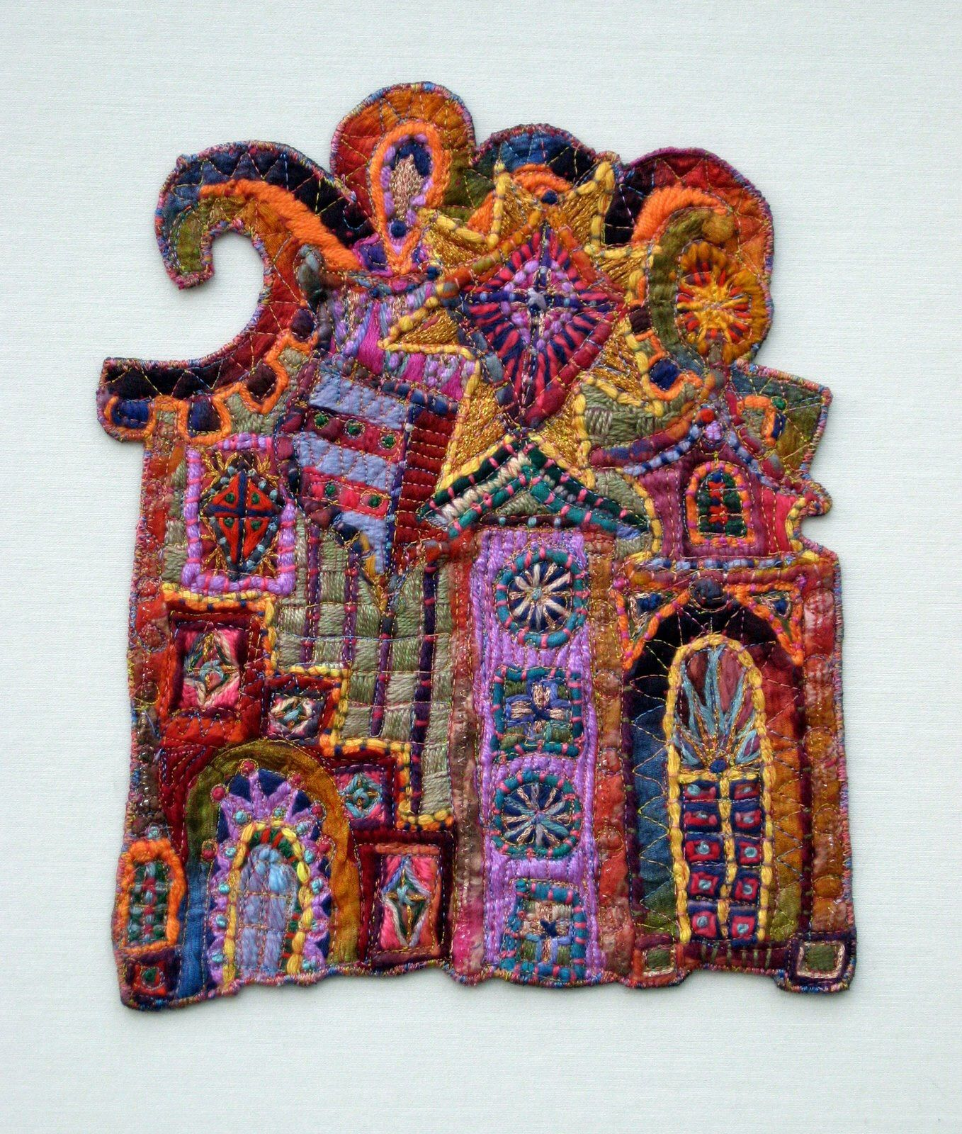 By Susan Lenz From Her Elements In Architecture Hand Stitched Then